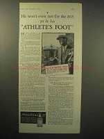 1930 Absorbine Jr. Ad - Yet He Has Athlete's Foot
