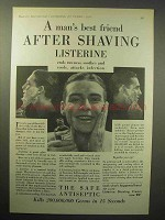 1930 Listerine Antiseptic Ad - Best After Shaving