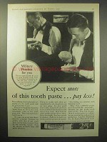 1930 Listerine Tooth Paste Ad - Expect More Pay Less