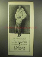 1930 Hickson Paletot Jacket in Russian Ermine Fur Ad