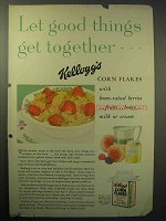 1930 Kellogg's Corn Flakes Cereal Ad - Good Things