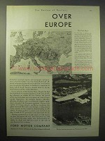 1930 Ford Motor Company Airplane Ad - Over Europe