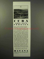 1930 Havana Cuba Tourism Ad - Tropical, Near By