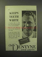 1930 Dentyne Chewing Gum Ad - Keeps Teeth White