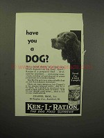 1930 Ken-L-Ration Dog Food Ad - Have You a Dog?