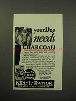 1930 Ken-L-Ration Dog Food Ad - Needs Charcoal