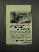 1930 Colorado Springs Tourism Ad - Pikes Peak