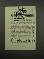 1930 Galveston Texas Tourism Ad - Treasure Isle Beckons