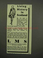 1930 LMS Railway Ad - Living History in Scotland