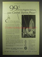 1929 Bureau of Power and Light City of Los Angeles Ad