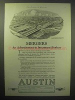 1929 Austin Company Engineers Ad - Mergers, Bankers