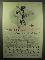 1929 Barcelona Tourism Ad - Picturesque City of Spain