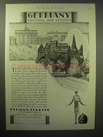 1929 Germany Tourism Ad - Medieval and Modern