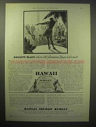 1929 Hawaii Tourism Ad - Old Hawaiian Kings Held Court