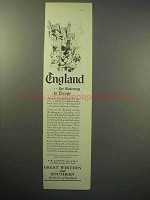 1929 Great Western and Southern Railways of England Ad - Gateway