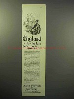 1929 Great Western and Southern Railways of England Ad