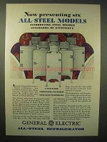 1929 General Electric Refrigerator Ad - Six Steel Model