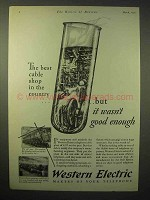 1929 Western Electric Telephone Ad - Best Cable Shop