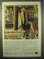 1929 Victor Red Seal Records Ad - Miserere Il Trovatore