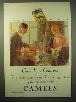 1929 Camels Cigarettes Ad - Camels, of Course!