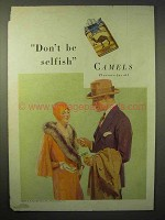 1929 Camels Cigarettes Ad - Don't be Selfish