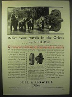 1929 Bell & Howell Filmo 70-D Movie Camera Ad - Orient