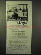 1929 Thos. Cook & Son Cruise Ad - Homeric