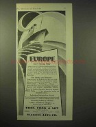 1929 Thos. Cook & Son Cruise Ad - Europe