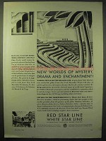 1929 Red Star Line, White Star Line Cruise Ad - Mystery