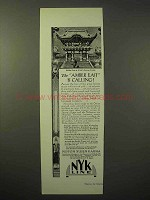 1929 NYK Line Cruise Ad - The Amber East is Calling
