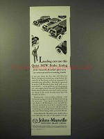 1929 Johns-Manville Moulded Brake Lining Ad - Quiet