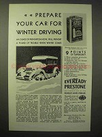 1929 Eveready Prestone Anti-Freeze Ad - Prepare