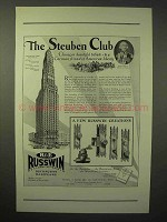 1929 Russwin Hardware Ad - The Steuben Club, Chicago