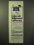 1929 Rock Island Railroad Ad - Colorado Yellowstone