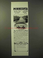 1929 Minnesota Tourism Ad - The Northland is Calling