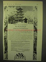 1929 NYK Line Cruise Ad - See Kyoto