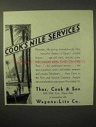 1929 Thos. Cook & Son Cruise Ad - Cook's Nile Services
