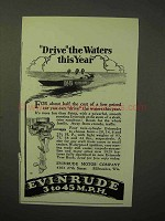 1929 Evinrude Outboard Motor Ad - Drive the Waters