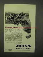 1929 Zeiss Binoculars Ad - Thoroughbreds - Polo