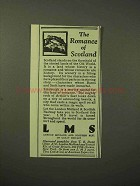 1929 LMS Railway Ad - The Romance of Scotland