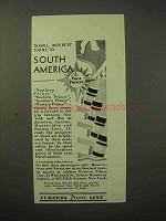 1929 Furness Prince Line Cruise Ad - Travel South America