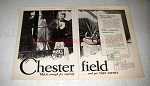 1929 Chesterfield Cigarettes Ad - What Meant There