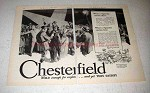 1929 Chesterfield Cigarettes Ad - Mild Yet They Satisfy