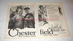 1929 Chesterfield Cigarettes Ad - And Yet They Satisfy