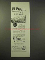 1926 El Paso Texas Tourism Ad - Sunshine all Winter