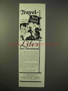 1926 Rock Island Railroad Ad - Travel Life's Investment
