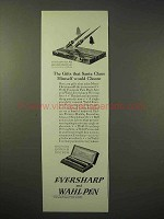 1926 Evershar and Wahl Pen Ad - Desk Set, Pen & Pencil