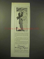 1926 Crane's Writing Papers Ad - Bride & Groom