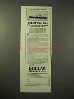 1926 Dollar Steamship Line Cruise Ad - Round the World