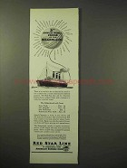 1926 Red Star Line Ad - World Cruise of Belgenland